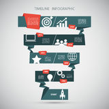 Molde do projeto de Infographic do espaço temporal Ilustração do vetor Imagens de Stock