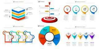 Molde do projeto de Infographic Grupo criativo de diagramas Pode ser usado para a disposição dos trabalhos, diagrama, bandeira, w ilustração stock
