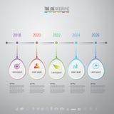 Molde do projeto de Infographics com os ícones ajustados Imagem de Stock