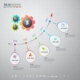 Molde do projeto de Infographics com os ícones ajustados Fotografia de Stock Royalty Free