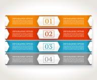 Molde do projeto de Infographics Conceito do negócio com quatro opções Fotos de Stock Royalty Free