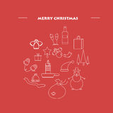 Molde do projeto do ano novo feliz 2017, composição no formulário sob a forma de uma bola, minimalismo Imagem de Stock