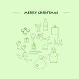 Molde do projeto do ano novo feliz 2017, composição no formulário sob a forma de uma bola, minimalismo Imagem de Stock Royalty Free