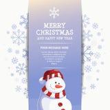 Molde do projeto do boneco de neve do ano novo feliz Fotos de Stock Royalty Free