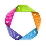 Elemento do projeto do ciclo do processo de Origami Fotografia de Stock Royalty Free