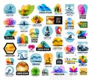 Molde do projeto do logotipo do vetor do curso férias ou Foto de Stock