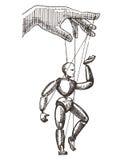 Molde do projeto do logotipo do vetor do fantoche gestão ou ilustração stock