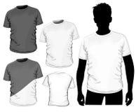 Molde do projeto do t-shirt (nenhum engranzamento) Fotografia de Stock