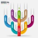 Molde do projeto do vetor da árvore da seta de Infographic Pode ser usado para processos dos trabalhos, bandeira, diagrama, opçõe ilustração royalty free