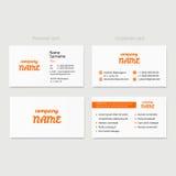 Molde do projeto do vetor do cartão para o estilo incorporado da empresa ilustração stock