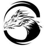 Molde do projeto do vetor do logotipo do dragão, ícone do dragão Imagens de Stock