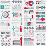 Molde do projeto do vetor dos trabalhos de equipa de Infographic Fotografia de Stock Royalty Free