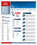 Molde do projeto do Web site Imagens de Stock