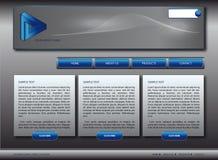 Molde do projeto do Web site Imagem de Stock