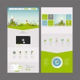 Molde do projeto do Web site da página do negócio um de Eco Fotos de Stock