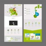 Molde do projeto do Web site da página do negócio um de Eco Fotografia de Stock