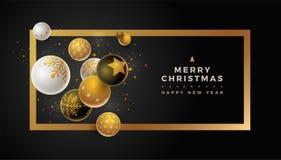 Molde do projeto do Feliz Natal Fotos de Stock