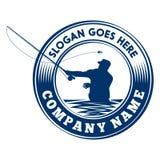 Molde do projeto do logotipo da pesca com mosca Molde do vetor e do projeto da ilustração ilustração royalty free