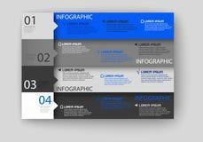 Molde do projeto moderno de Infographic Ilustração Stock