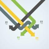 Molde do projeto moderno do vetor Labyrint da seta Colorido abstrato Fotografia de Stock Royalty Free