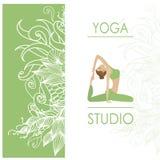 Molde do projeto para o cartão do estúdio da ioga ilustração royalty free
