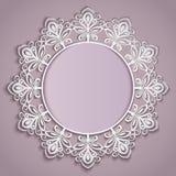 Molde do quadro da flor de papel Imagens de Stock Royalty Free