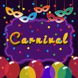 Molde do quadro de avisos do carnaval ilustração do vetor