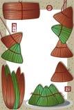 Molde do quadro de Dragon Boat Festival do chinês ilustração do vetor
