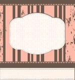 Molde do quadro do vintage para o cartão Imagens de Stock Royalty Free
