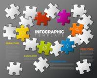 Molde do relatório de Infographic do enigma do vetor Fotos de Stock Royalty Free