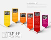 Molde do relatório do espaço temporal de Infographic com fotos ilustração royalty free