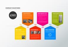 Molde do relatório do espaço temporal de Infographic do vetor Fotografia de Stock Royalty Free