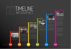 Molde do relatório do espaço temporal da tipografia de Infographic do vetor Imagem de Stock