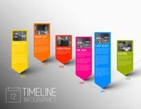 Molde do relatório do espaço temporal da tipografia de Infographic do vetor Fotografia de Stock Royalty Free