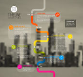 Molde do relatório do espaço temporal da tipografia de Infographic do vetor Imagens de Stock Royalty Free