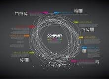 Molde do relatório do espaço temporal do sumário de Infographic do vetor Fotografia de Stock Royalty Free