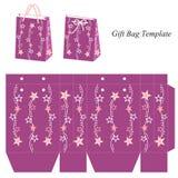 Molde do saco com estrelas ilustração stock
