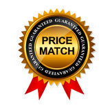 Molde do sinal da etiqueta do ouro da garantia do fósforo do preço Foto de Stock
