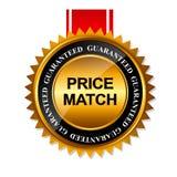 Molde do sinal da etiqueta do ouro da garantia do fósforo do preço ilustração royalty free