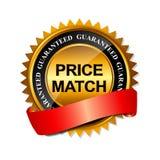 Molde do sinal da etiqueta do ouro da garantia do fósforo do preço ilustração stock