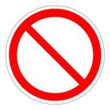 Molde do sinal da proibição Fotografia de Stock Royalty Free
