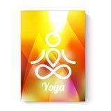 Molde do tema da ioga Ilustração do Vetor