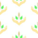 Molde do tema do acupunture, teste padrão sem emenda Imagem de Stock Royalty Free