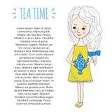 Molde do tempo do chá Foto de Stock