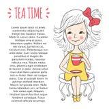 Molde do tempo do chá Foto de Stock Royalty Free