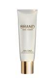 Molde do tubo da garrafa de tonalizador da pele para anúncios ou fundo do compartimento Imagem de Stock