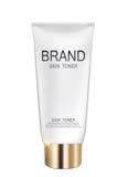 Molde do tubo da garrafa de tonalizador da pele para anúncios ou fundo do compartimento Fotografia de Stock
