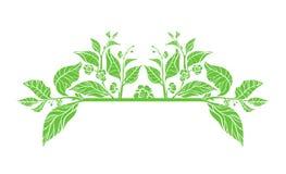 Molde do vetor com ramos Fotografia de Stock Royalty Free