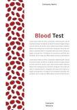 Molde do vetor da capa da análise de sangue Imagens de Stock