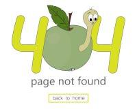 molde do vetor da página de 404 erros para o Web site Ilustração da página 404 ilustração royalty free